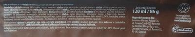 Lody waniliowe w czekoladzie mlecznej z kawałkami prażonych migdałów - Składniki - pl
