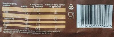 Lody waniliowe w czekoladzie mlecznej z kawałkami prażonych migdałów - Wartości odżywcze - pl