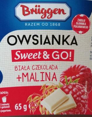 Płatki owsiane z mlekiem w proszku odtłuszczonym, kawałkami białej czekolady i liofilizowanych malin. - Produkt - pl