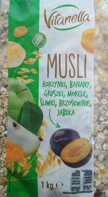 Mieszanka płatków zbożowych z suszonymi owocami oraz kawałkami prażonych orzeszków laskowych - Produkt - pl
