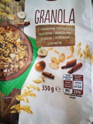 granola z kawałkami czekolady, prażonymi orzeszkami ziemnymi ilaskowymi - Produkt