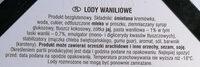 Lody waniliowe - Składniki - pl