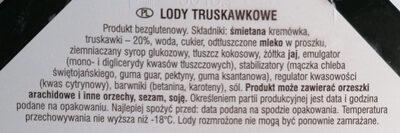 Lody truskawkowe - Składniki - pl