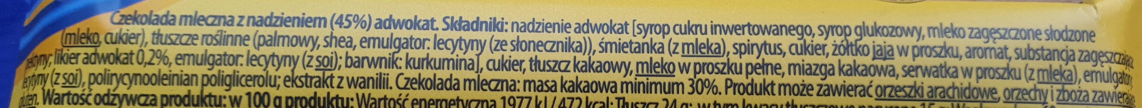 Advocat - Ingrédients - pl
