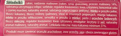 Czekolada mleczna - Ingredients - pl