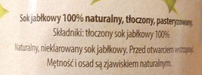 Jabłko 100% naturalny sok - Ingredients - pl