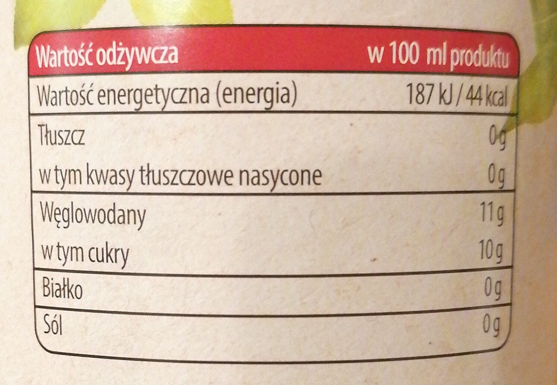 Jabłko 100% naturalny sok - Nutrition facts - pl