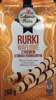 Rurki waflowe z kremem o smaku krówkowym (60%) - Produkt - pl