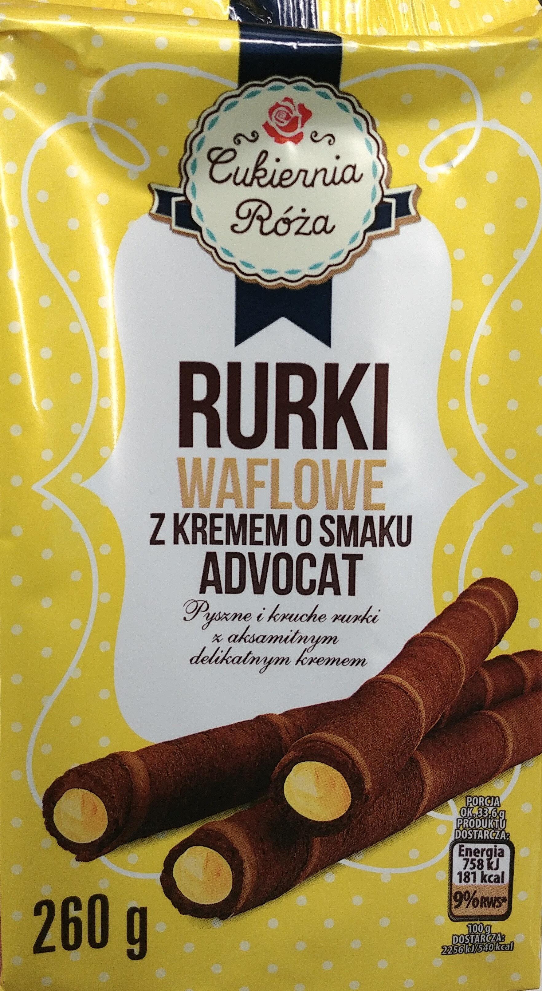 Rurki waflowe z kremem o smaku adwokatowym (60%) - Produkt - pl