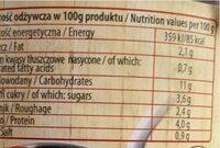 Fasolka po bretonsku - Nutrition facts - en