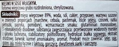 Mięsiwo w sosie własnym - Składniki - pl