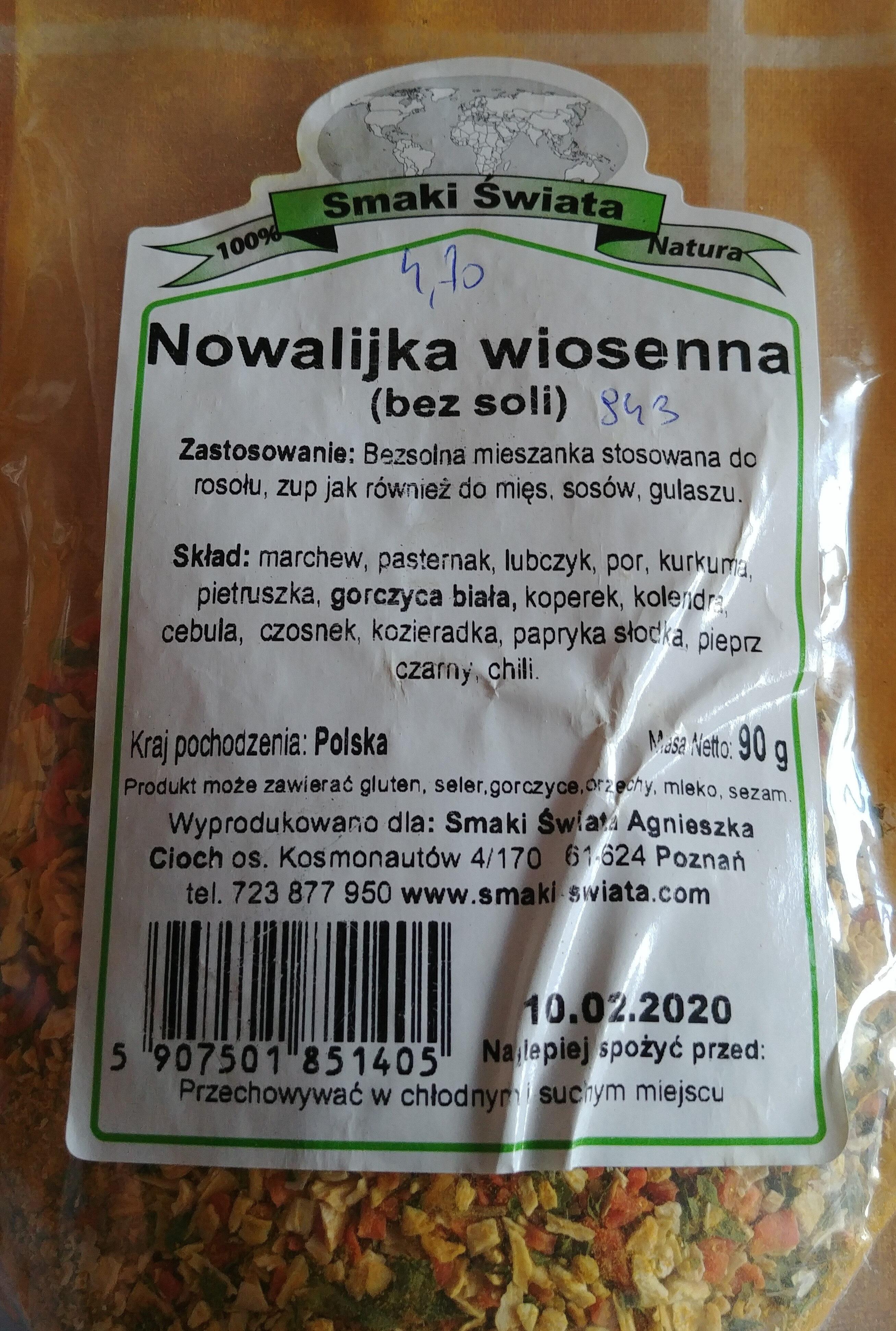 Nowalijka wiosenna (bez soli) - Produkt - pl
