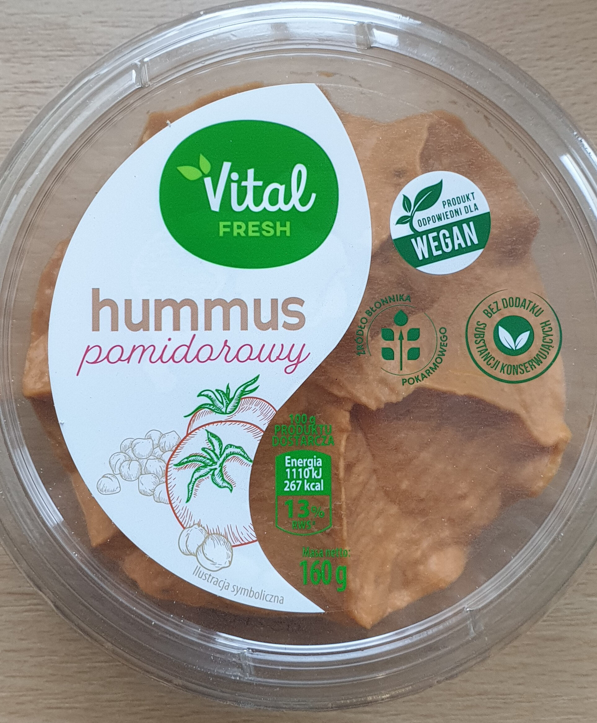 Hummus pomidorowy - Produkt - pl