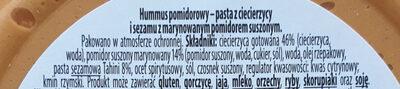 Hummus pomidorowy - Składniki - pl