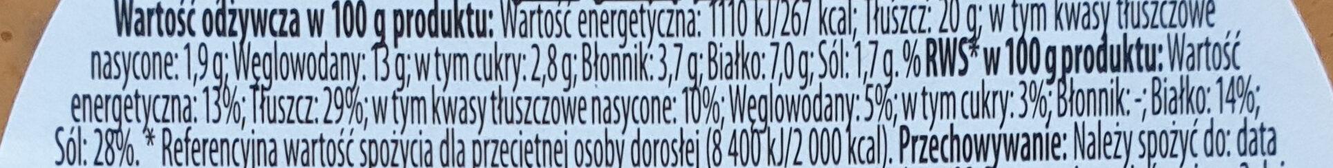 Hummus pomidorowy - Wartości odżywcze - pl