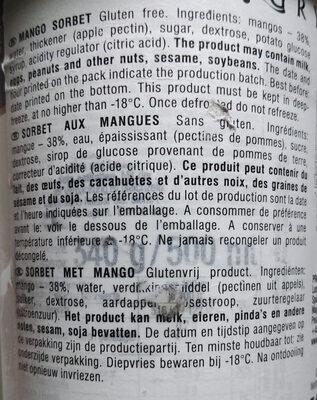 Mango Sorbet - Ingredients - en