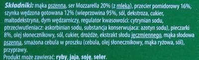 Pizza capricciosa - Ingrédients - pl