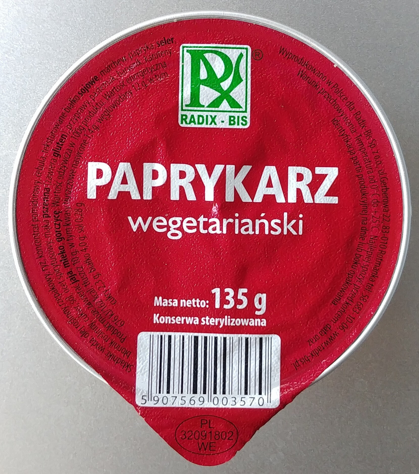 Paprykarz wegetariański. - Produkt - pl
