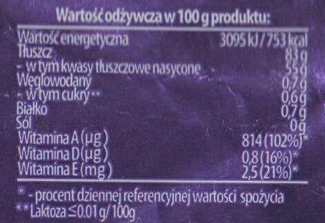 Masło ekstra z Łukowa - Informations nutritionnelles - pl