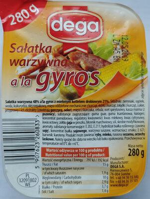 Sałatka warzywna a la Gyros - Product