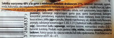 Sałatka warzywna a la Gyros - Ingrédients - pl