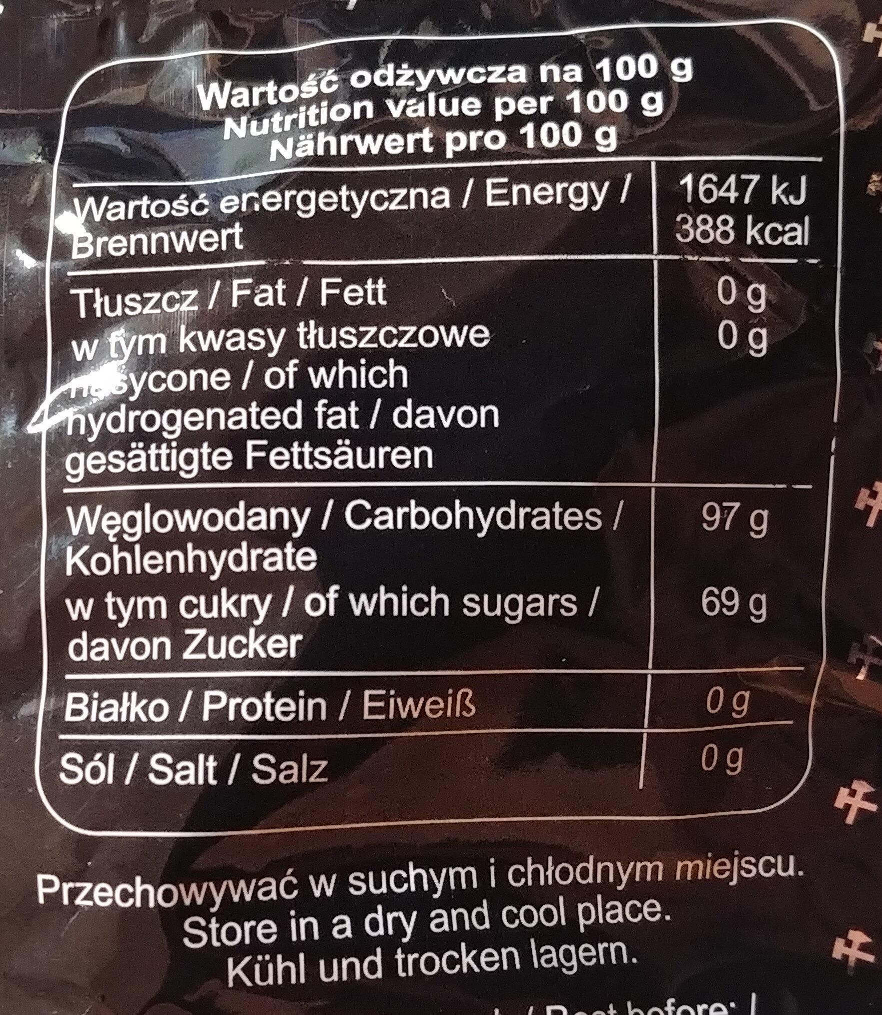 Cukierki ziołowe. Kopalnioki - Wartości odżywcze