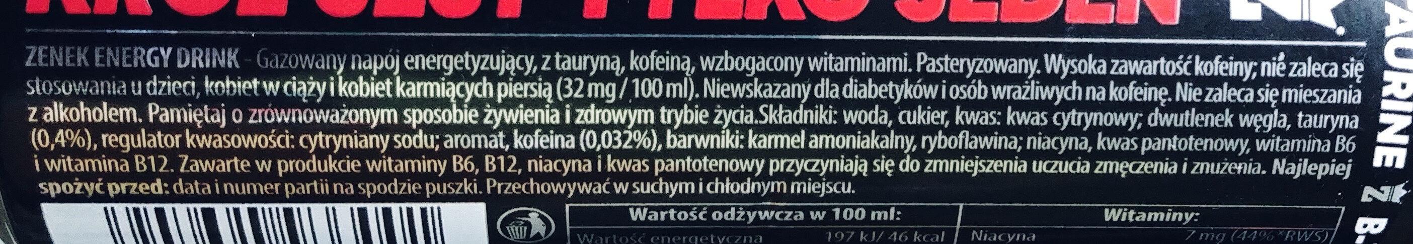 Zenek - Składniki