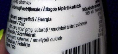 Epres Desszertöntet - Informations nutritionnelles - hu