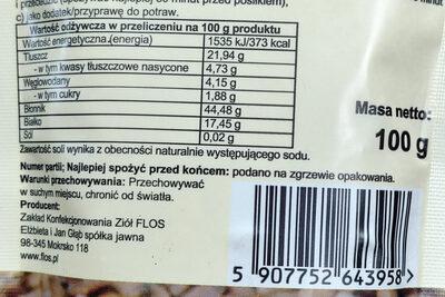 Ostropest plamisty mielony, odtłuszczony. - Nutrition facts - pl