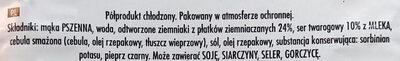 Pierogi ruskie - Ingredients - pl