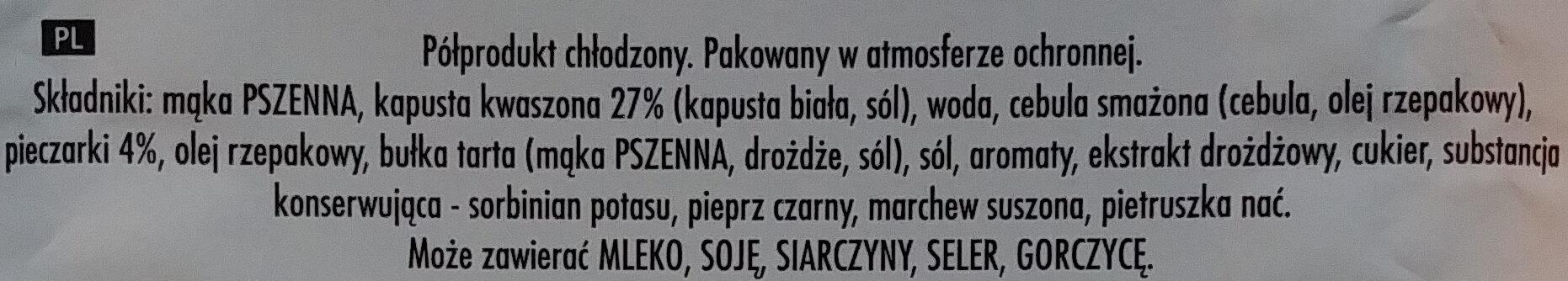 Pierogi z kapustą i grzybami - Ingredients - pl