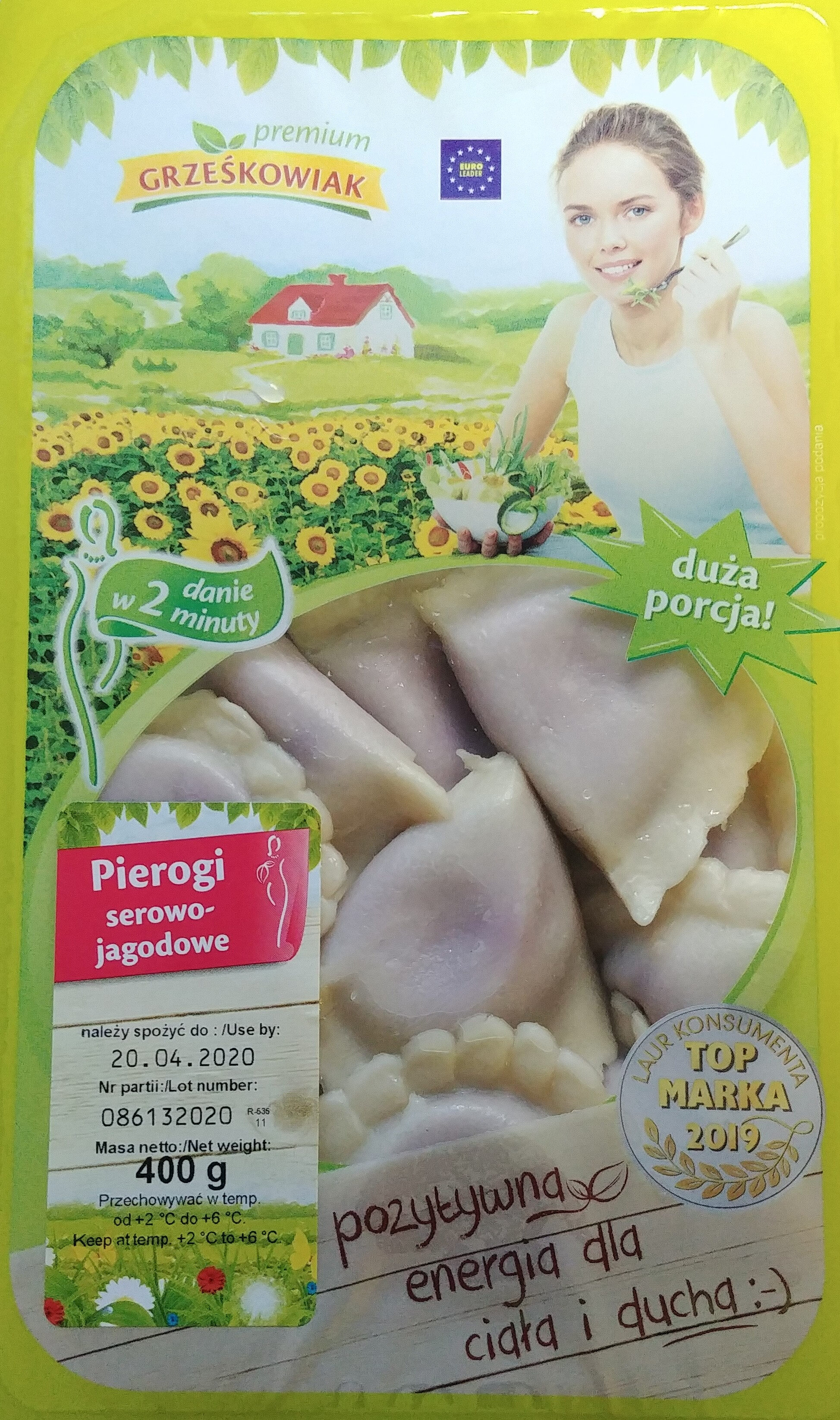 Pierogi serowo-jagodowe - Produit - pl