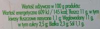 Sałatka na bazie warzyw gotowanych z jajkiem i szczypiorkiem - Nutrition facts
