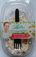 Sałatka na bazie makaronu gotowanego z dodatkiem ogórka konserwowanego i papryki konserwowej - Produkt