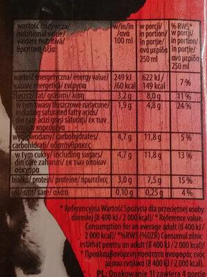 Mleko 3,2 % - Wartości odżywcze - pl