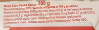 Masło extra - Informations nutritionnelles - pl