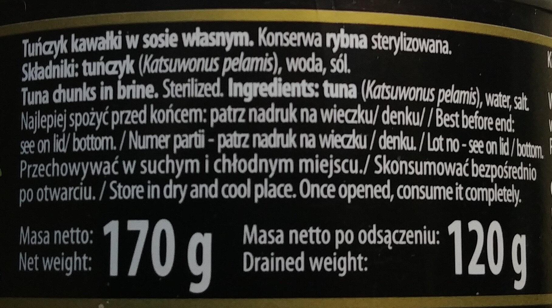 Tuńczyk kawałki w sosie własnym. - Składniki - pl