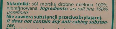 Sól morska - Składniki - pl