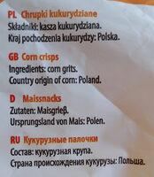 Tygryski pałeczki kukurydziane - Składniki - pl