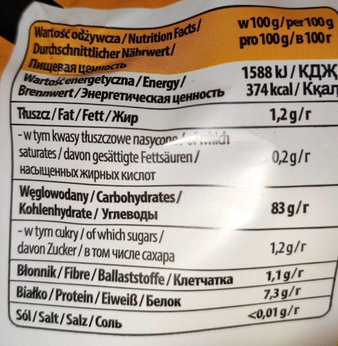 Tygryski Maisstangen - Пищевая и энергетическая ценность - pl