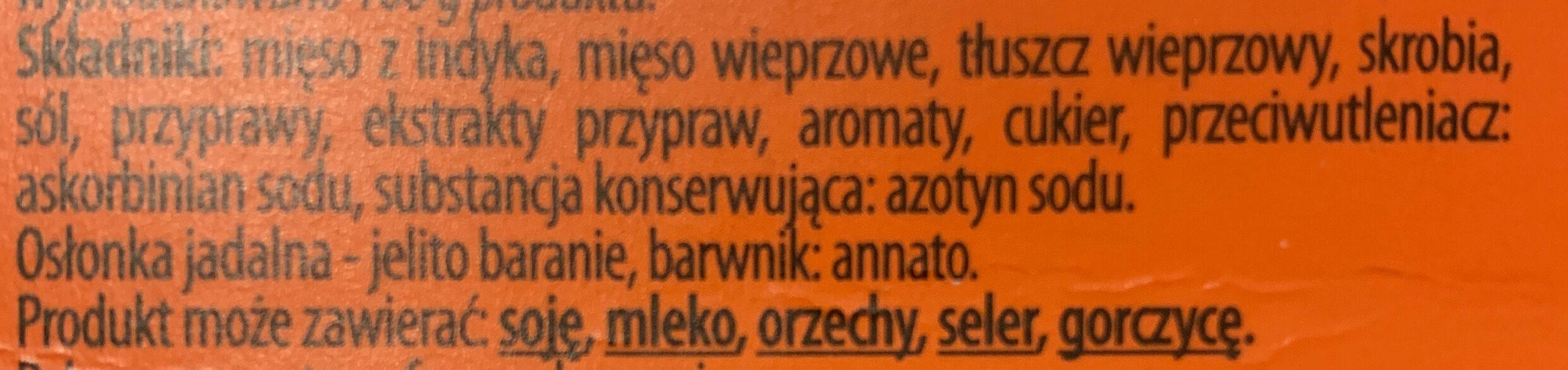 Kabanos - Ingredients - pl