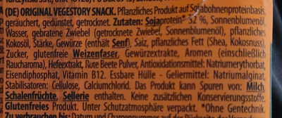 Vegestory Snack Original - Ingrédients - de