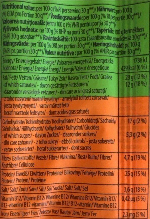 Vegestory Snack Original - Informations nutritionnelles - de
