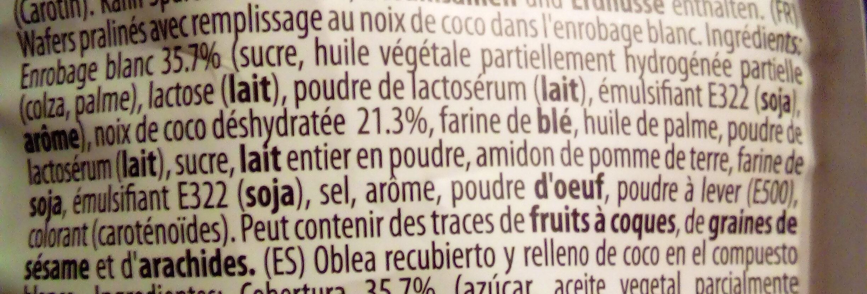 Happy Bianco - Ingredients - fr
