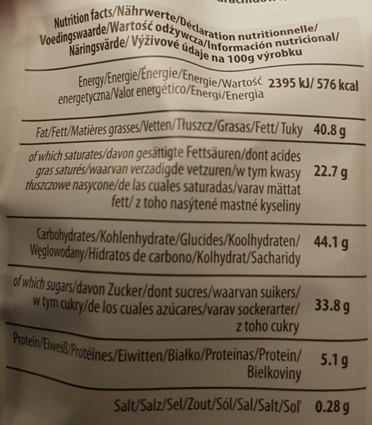 Happy Bianco - Nutrition facts - fr
