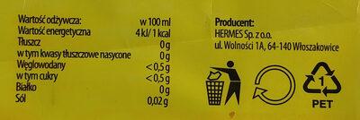 Napój gazowany o smaku pomarańczowym na bazie wody źródlanej. - Wartości odżywcze - pl