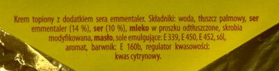 Krem topiony z dodatkiem sera emmentaler - Ingrediënten - pl