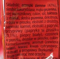 Orzeszki ziemne smażone w chrupkiej skorupce o smaku paprykowym - Składniki - pl