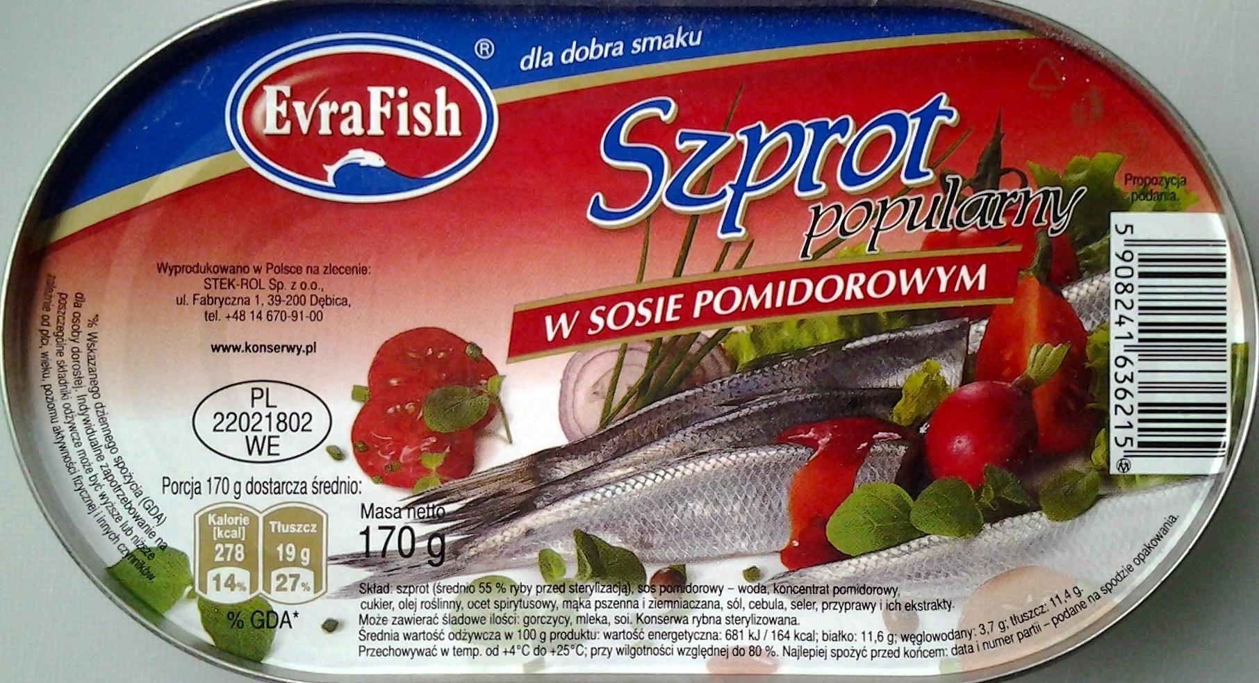 Szprot w sosie pomidorowym - Produkt - pl