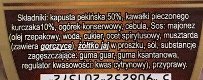 Sałatka z kurczakiem - Składniki - pl